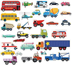 Amazon Com Decalmile Cars Wall Stickers Transports Kids Room Wall Decor Peel And Stick Wall Decals For Boys Children S Room Nursery Bedroom Classroom Home Kitchen