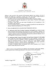 Decreto del Vescovo 4 maggio 2020 IL PORTALE DELLE PARROCCHIE