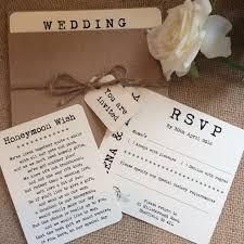 pocket wedding invitation with rsvp