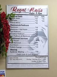 regal nail salon spa 3951 w ashley