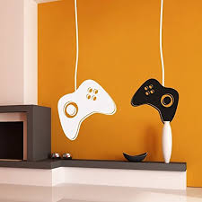 Decal Gaming Controllers Wall Or Window Decal Two Controllers 1 Controller With Cord 11 X 28 2 Controller Measures With Cord 11 X 29 Walmart Com Walmart Com