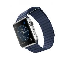apple iwatch 42mm midnight blue leather