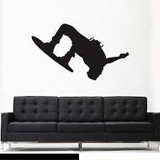Wall Vinyl Decal Sticker Bedroom Snowboard Snow Skier Sport Snowboarde Stickersforlife