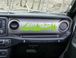 Jeep Jl Jlu Gladiator Mountain Dashboard Vinyl Decal Jeep Wrangler Decal