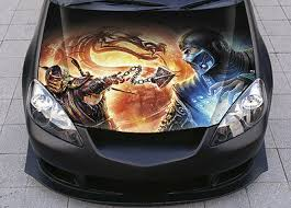 Mortal Kombat Assassins 2 Car Hood Wrap Color Vinyl Sticker Decal Fit Any Car Ebay