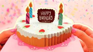 Diy Increible Tarjeta De Cumpleanos Pop Up Happybirthday