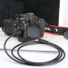Mini HDMI Để HDMI Máy Ảnh 8-Pin USB Truyền Dữ Liệu Cáp Dây Dẫn Cho Canon  HTC-100 EOS 60D 600D 650D 700D 1100D 5D3 5D2 5D 6D 7D T2i T1i Máy Ảnh