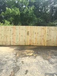 Standard 6 Ft Tall Solid Dog Ear Double Gate This Gate Measures 8 Ft In Total And Will Match The Rest Of Your Fenc Dog Ear Fence Wood Fence Gates Fence Styles
