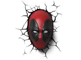 Marvel Comics 3d Led Wall Decal Deadpool
