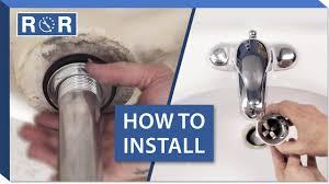how to install a bathroom sink drain