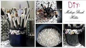 diy custom makeup brush holder easy