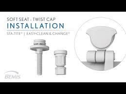 twist cap easy to clean toilet seat