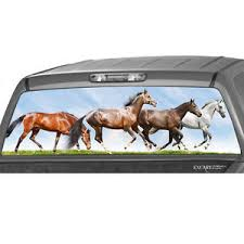 Running Horses Rear Window Graphic Decal Print Tint Truck Suv Galloping Sticker Ebay