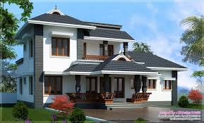 sloping roof kerala house design at