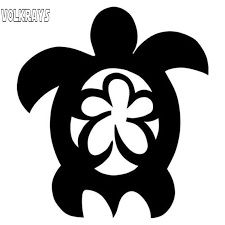 Volkrays Fashion Car Sticker Sea Turtle Flower Hawaii Accessories Reflective Waterproof Vinyl Decal Black Silver 13cm 11cm Car Stickers Aliexpress