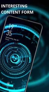 future live wallpaper blue sci fi