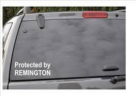Amazon Com Protected By Remington Window Decal Kitchen Dining
