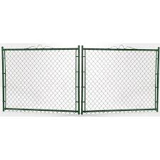 5 Ft H X 12 Ft W Steel Chain Link Fence Gate In The Chain Link Fence Gates Department At Lowes Com