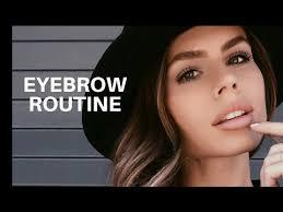routine using nyx eyebrow cake powder