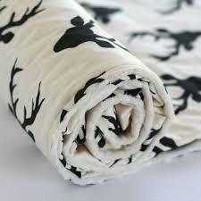 buck forest minky baby blanket