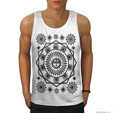 pagan sun symbolism men whitetank top