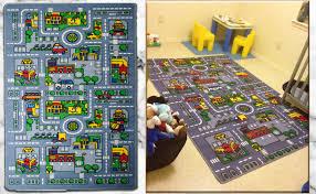 Amazon Com Kids Rug City Map Fun Play Rug 5 X 7 Children Area Rug Non Skid Gel Backing 59 X 82 Furniture Decor