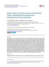 pdf wheat germ an overview on