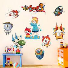 Diy Kawaii Yo Kai Watch Yokai Wall Art Decal Sticker Removable Mural Pvc Youkai Monster Home Decor For Kids Room Ctxiong Wish