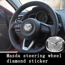 Car Steering Wheel Stickers Emblem Decals For Mazda 2 3 5 6 Cx5 Rx 8 Auto Parts And Vehicles Car Truck Graphics Decals Magenta Cl