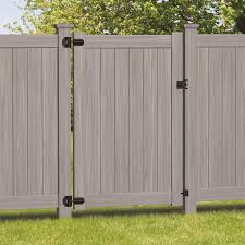 Freedom Bolton 6 Ft H X 4 Ft W Woodgrain Gray Vinyl Flat Top Fence Gate Lowes Com In 2020 Fence Gate Vinyl Fence Panels Vinyl Fence