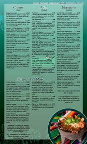 menu of el vaquero mexican restaurant