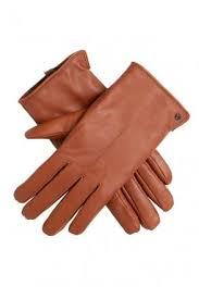 samantha faux fur lined leather gloves