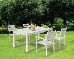 new modern white plastic outdoor table