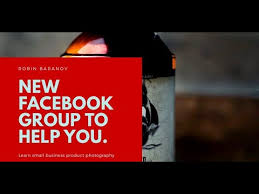 New Facebook group for small business product photography - YouTube