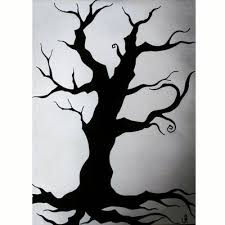Creepy Tree Silhouette By Shayla Hassis Art Print Of Drawing Artboost Com