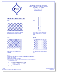 Finlink Slat Fencing Pds Fence Products By Pexco Llc Caddetails
