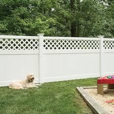 Freedom Lattice Top Vinyl Fence Panels At Lowes Com