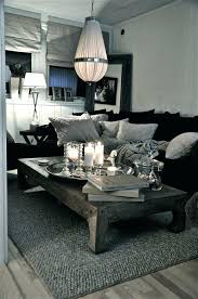 black leather couch decor living gray