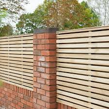 Forest Double Forest Slatted Fence Panel 6ft Pack Of 3 Homebase