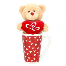 way to celebrate plush toy in latte mug