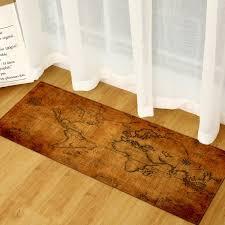 Sunsky World Map Carpets Rug Bedroom Kids Baby Play Crawling Mat Memory Foam Area Rugs Carpet Size 40x60cm Brown