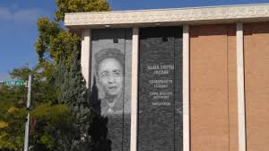 Mural of Alma Smith Jacobs on our Library. Mrs. Jacobs was the first  African American to serve as Montana State Librarian. : pics