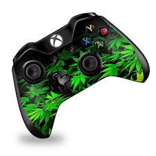 Amazon Com Skin Vinyl Decal Wrap For Xbox One One S Controller Skins Stickers Cover Green Pot Leaf Weed Video Games