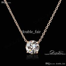 ol style 4 claw cz diamond necklaces