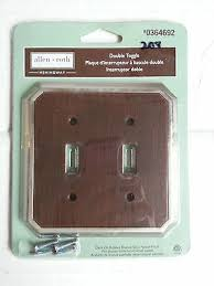 allen roth double toggle wall plate