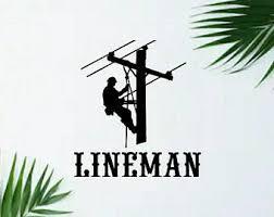 Lineman Decal Etsy