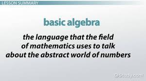 basic algebra rules equations