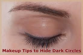 makeup tips to hide dark circles