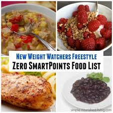 ww zero smartpoints food list simple