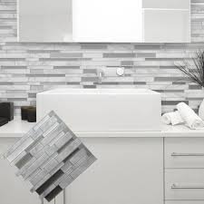 white grey marble mosaic l and stick